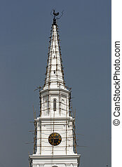 Church Spire - Historic church spire of St Andrews Kirk in...
