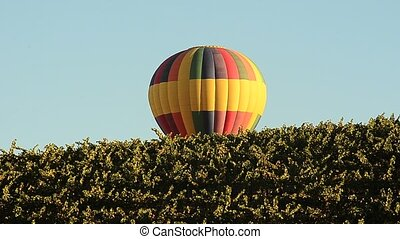 Hot Air Balloon  - Hot Air gradually sinking