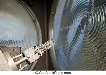 lighthouse bulb and lens