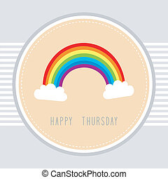 Thursday card1 - Thursday card with the rainbow