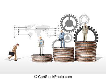 business man miniature figure concept idea to success...