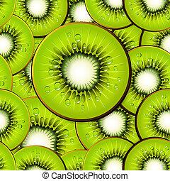 kiwi slices seamless background