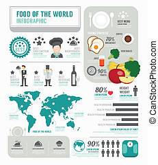 Infographic business of foods template design concept vector...