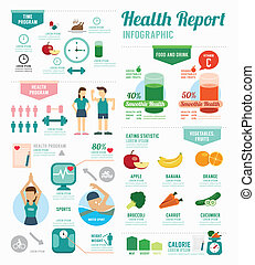Infographic health sport and Wellness template design...