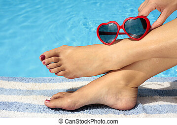 Summertime Fun - Fet and funky sunglasses by a nice blue...