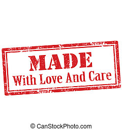 Made With Love And Care-stamp