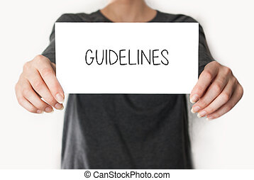 Guidelines female showing card - Guidelines Female in black...
