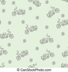 Seamless texture moped - Seamless texture of the sketch of a...