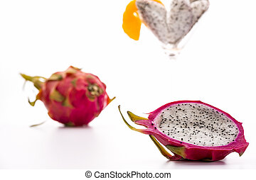 Pitaya for dessert - The blazing white and mildly aromatic...