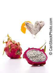Dragonfruit for dessert - The dragonfruit has a blazing...