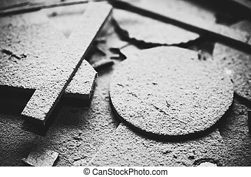 Cuttings background - Abstract background