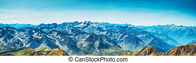 Mountains panorama - Pyrenees mountains panorama