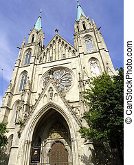 st Paul church in Munich, Germany - beautiful st Paul church...