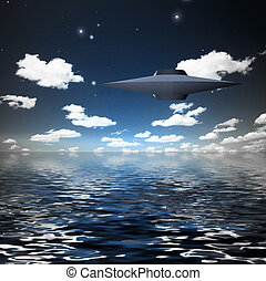 Alien Craft over Water