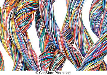 Colored cables in the global networks