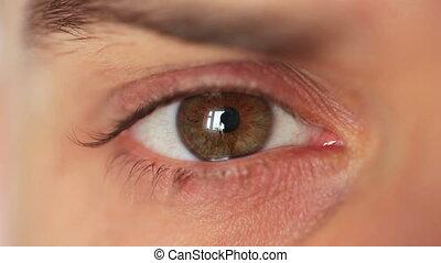 Men's eye closeup