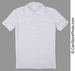 Polo shirt isolated on gray background. - Polo shirt...