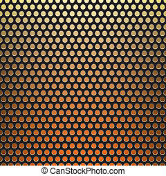 metal grid fire background - The metal grid mesh grill...