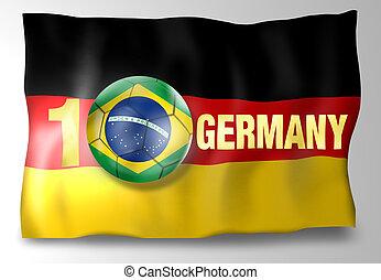 Creative Golden Winner Germany Flag Ball