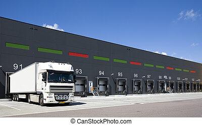 Loading docks - Loading bay for loading and unloading trucks...
