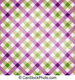 Textile plaid pattern