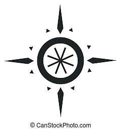 Navigation wind rose - Branding identity corporate logo...