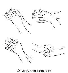 Hygiene and healthy joints set - Hand hygiene and cleaning...