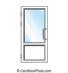 Glass Doors Clipart glass door vector clipart royalty free. 7,293 glass door clip art