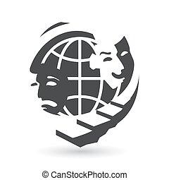 Vector world premiere theater - Identity corporate logo...