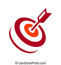 Vector target hit - Identity corporate logo Isolated on...