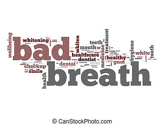 Bad breath word cloud