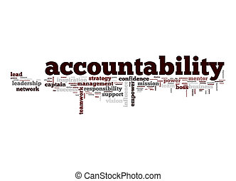 Accountability, palabra, nube