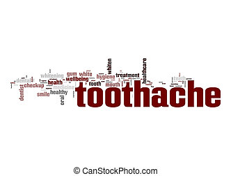 Toothache word cloud