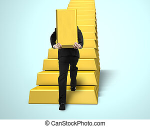 Carrying bullion on stairs - Carrying bullion on golden...