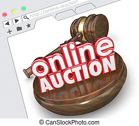 Online Auction Website Internet Online Marketplace Bidding...