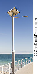 Solar Street Lamppost - Jetty equipped with solar energy...