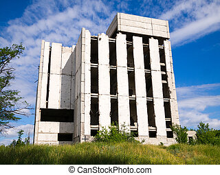 Abandoned unfinished building