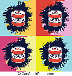 painting in the style of Andy Warhol - Painting in the style...