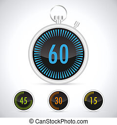 Countdown Timer - Stopwatch for accurate fixing of sporting...