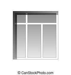 Vector window - White window isolated on a white background