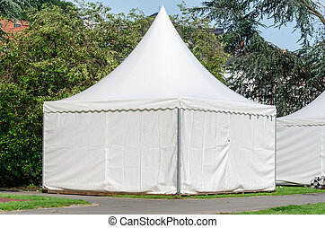 Pagoda tent quickly set up for various occasions as a sales...