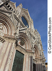 Facade of the Siena cathedral, Tuscany, Italy