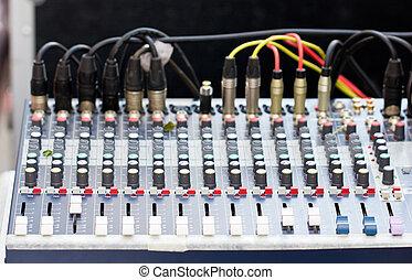 Sound mixer.