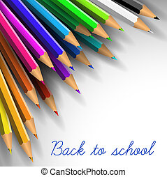 Vector Back to school poster