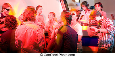 A party in a nightclub - A party on the dancefloor in a...