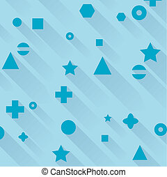 vector abstract background of different figures with shadows