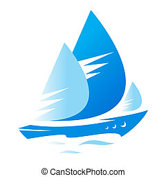 Ship sign - Branding identity corporate logo isolated on...