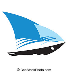 Speed Ship sign - Branding identity corporate logo isolated...