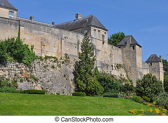 Chateau Ducal castle in Caen - Chateau de Caen castle in the...