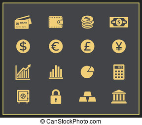 Financal icons set. Vector icons for a financial website...